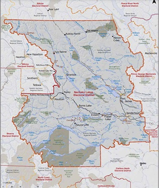 Dan Stuart - Nechako Lakes riding map